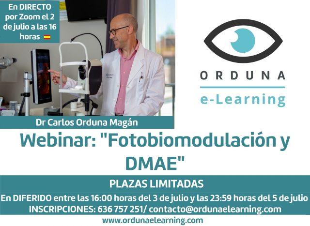 Webinar Fotobiomodulación y DMAE